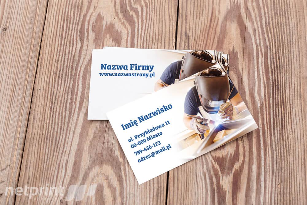 Wizytówka - Usługi spawalnicze na najwyższym poziomie! - Netprint.pl