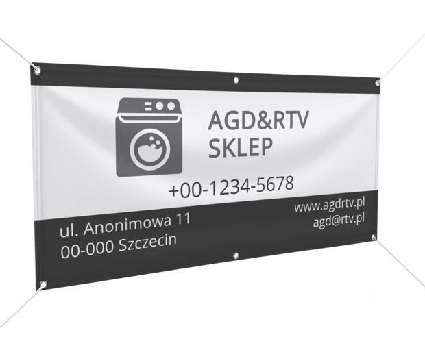 Do tego sklepu trudno nie zajrzeć, Sprzedaż, RTV i AGD - Banery Netprint szablony online