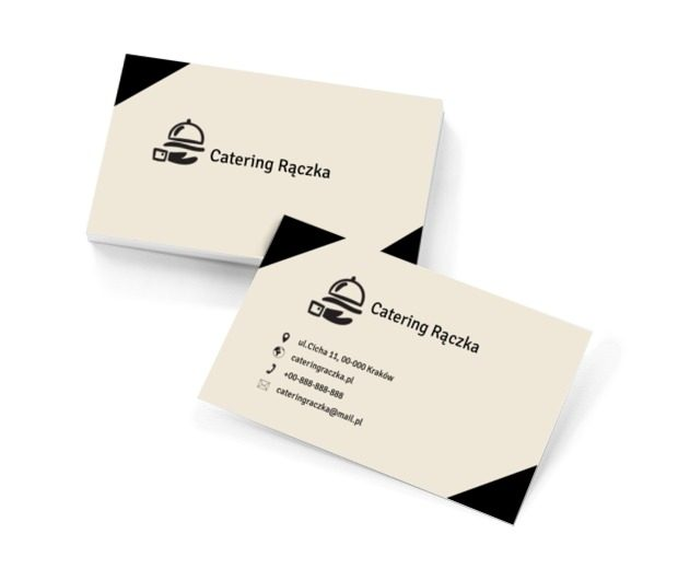 Ręka kelnera, Gastronomia, Catering - Wizytówki Netprint szablony online