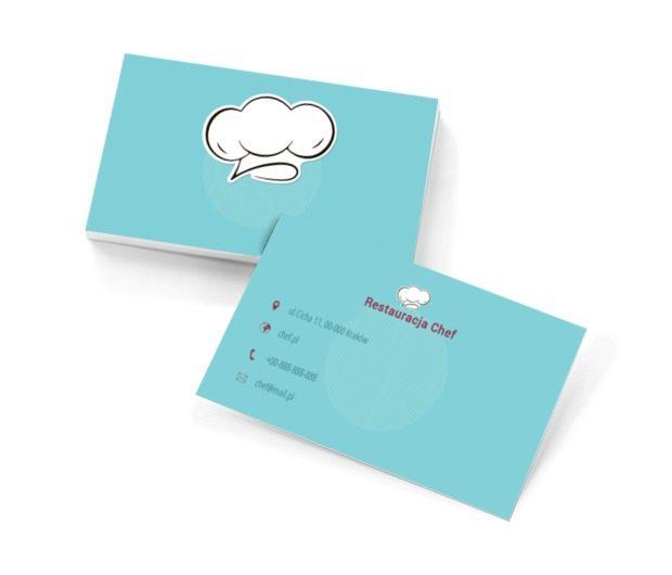 Czapka szefa kuchni, Gastronomia, Restauracja - Wizytówki Netprint szablony online