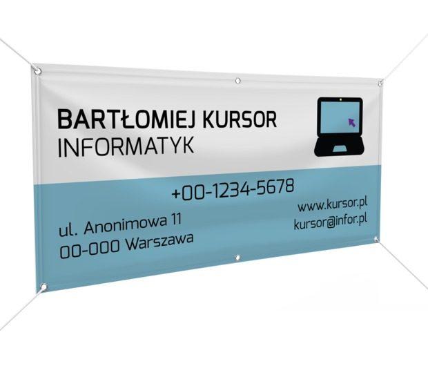 Nie tylko notebook i dwa kolory, Telekomunikacja i Internet, Informatyk - Banery Netprint szablony online