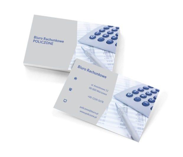 Zdjęcie z kalkulatorem, Finanse i ubezpieczenia, Biuro rachunkowe - Wizytówki Netprint szablony online