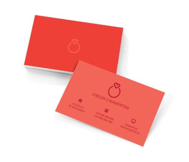 Pierścionek z rubinem, Sprzedaż, Jubiler - Wizytówki Netprint szablony online