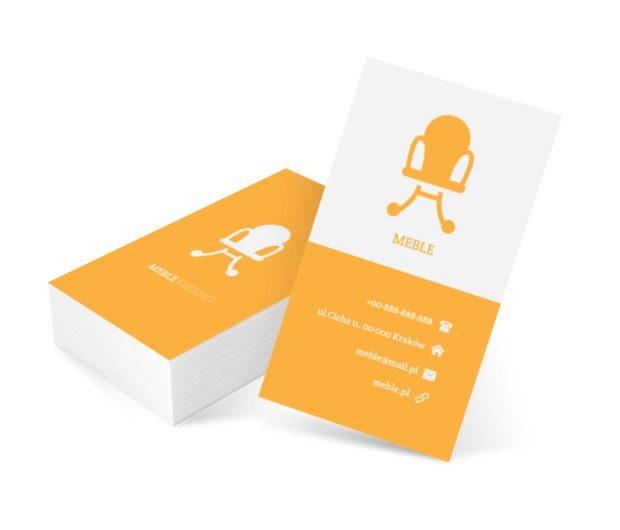Żółte krzesło, Sprzedaż, Meble - Wizytówki Netprint szablony online