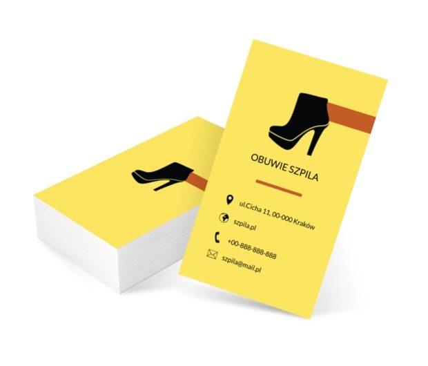 Czarna szpilka, Sprzedaż, Obuwie - Wizytówki Netprint szablony online
