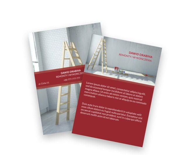Klasyczna dawka pionowości, Budownictwo, Remont wykończenia - Ulotki Netprint szablony online