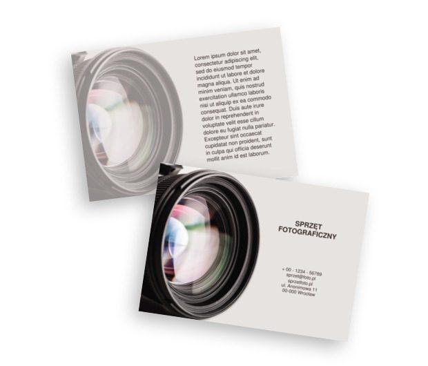 Foto-przestrzeń. Czas na zatrzymanie czasu. , Fotografia, Sprzęt fotograficzny - Ulotki Netprint szablony online