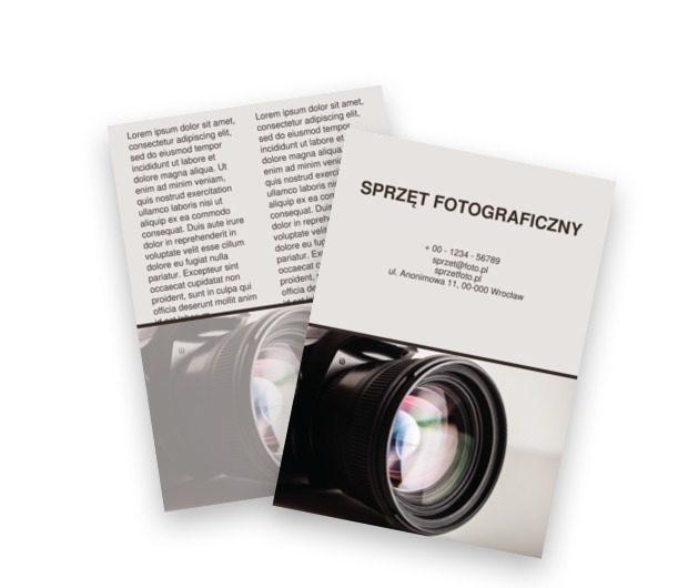 Z obiektywem na śnieżnobiałym tle , Fotografia, Sprzęt fotograficzny - Ulotki Netprint szablony online