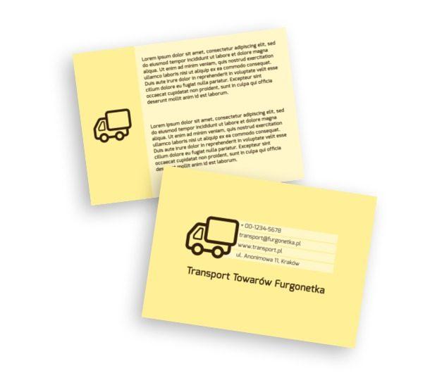 Goniąc za lepszym jutrem, Transport, Transport Towarów  - Ulotki Netprint szablony online
