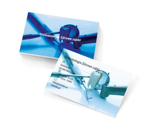 Ząb pomiędzy narzędziami , Medycyna, Stomatologia - Wizytówki Netprint szablony online