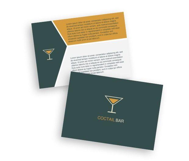 Powiedz, gdzie teraz jesteś, Gastronomia, Bar - Ulotki Netprint szablony online