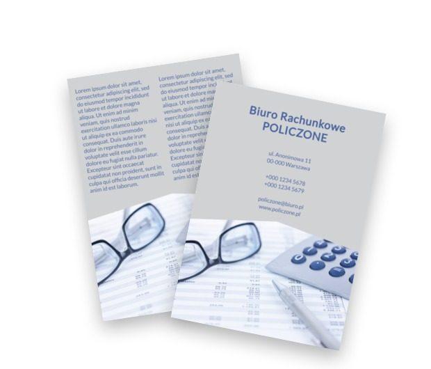 W strategii opartej na liczbach, Finanse Ubezpieczenia, Biuro rachunkowe - Ulotki Netprint szablony online