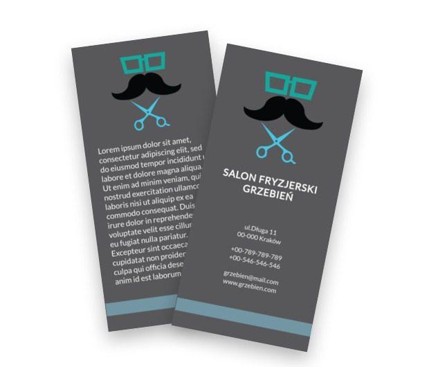 Modnie, z wąsem, Zdrowie i Uroda, Salon Fryzjerski - Ulotki Netprint szablony online