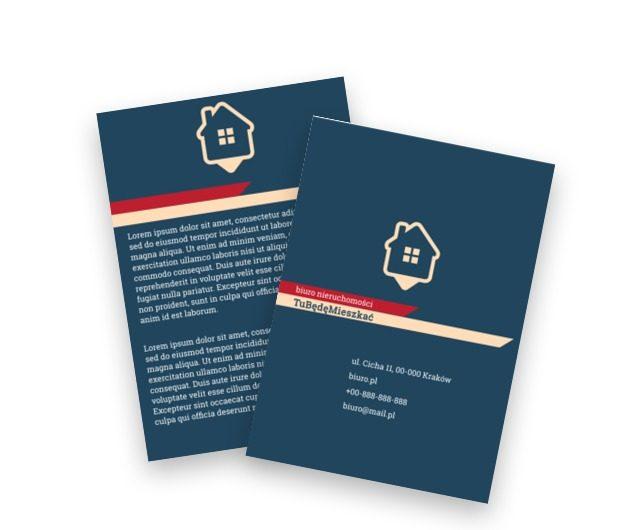 Spokój wewnętrznego błękitu, Nieruchomość, Biuro nieruchomości  - Ulotki Netprint szablony online