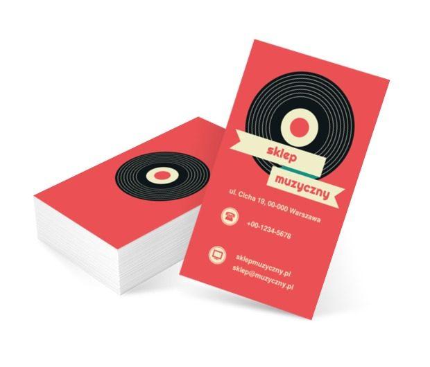 Retro winyl, Rozrywka, Sklep muzyczny - Wizytówki Netprint szablony online