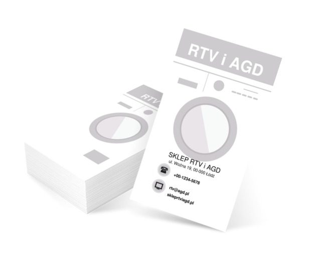Grafika pralki, Sprzedaż, RTV i AGD - Wizytówki Netprint szablony online