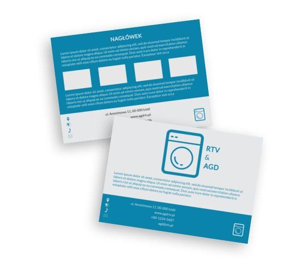 Jasno, prosto, konkretnie. Oferta AGD, Sprzedaż, RTV i AGD - Ulotki Netprint szablony online