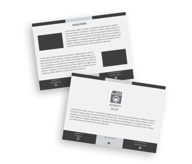 W szarościach dla branży RTV i AGD, Sprzedaż, RTV i AGD - Ulotki Netprint szablony online