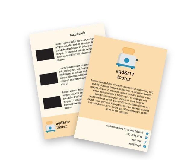 Zapraszamy na syte śniadanie, Sprzedaż, RTV i AGD - Ulotki Netprint szablony online