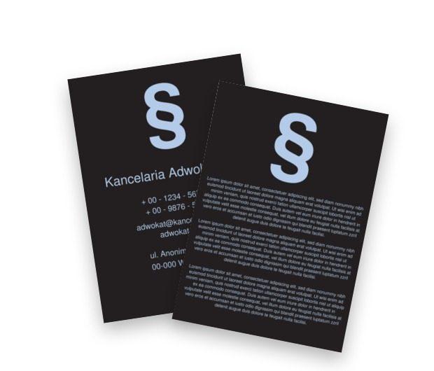 Adwokacka misja – zwycięstwo, Prawo, Kancelaria adwokoacka - Ulotki Netprint szablony online