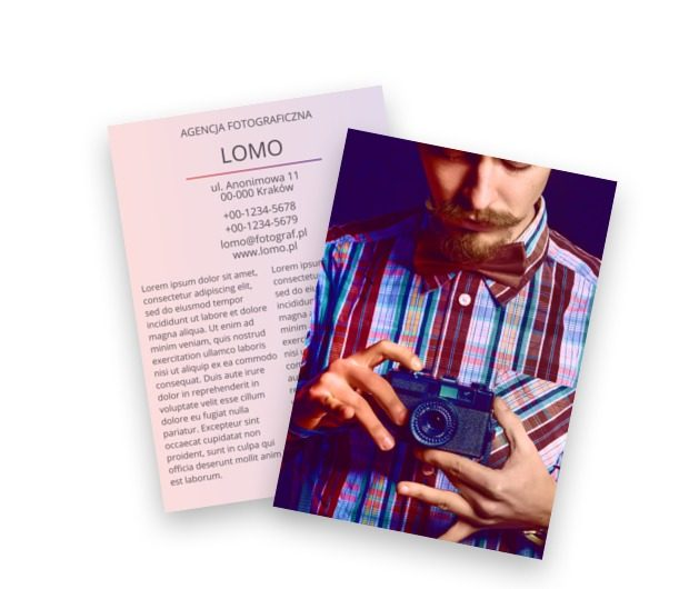 W intensywnie dobranej strukturze, Fotografia, Usługi fotograficzne - Ulotki Netprint szablony online
