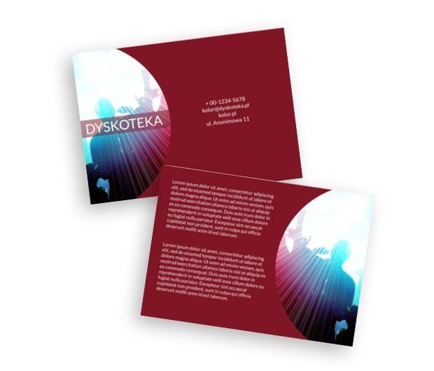 Rozrywkowa dyskoteka, Rozrywka, Dyskoteka - Ulotki Netprint szablony online