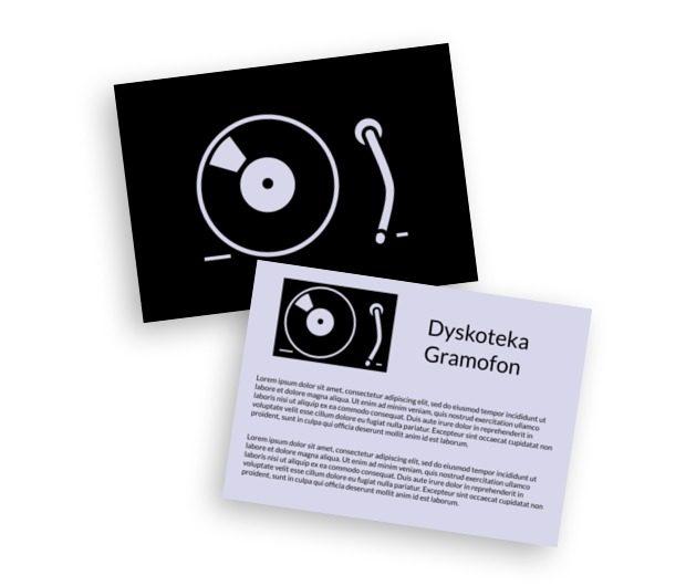 Z muzyką w tle, szafa gra, Rozrywka, Dyskoteka - Ulotki Netprint szablony online