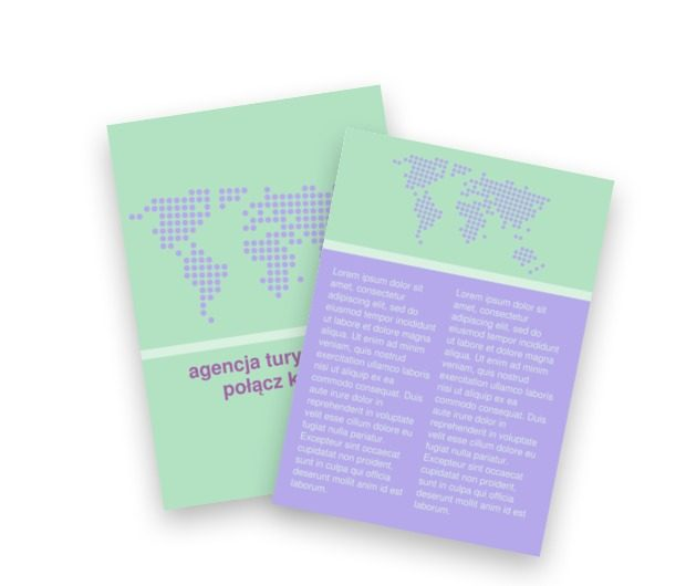 W pastelowym świecie, Turystyka, Agencja Turystyczna - Ulotki Netprint szablony online