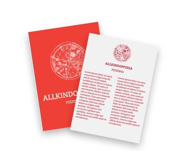 Doskonałość konsumpcyjna w czerwieni, Gastronomia, Pizzeria - Ulotki Netprint szablony online