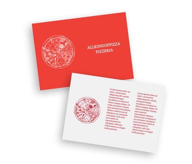 Czarodziejski spodek, Gastronomia, Pizzeria - Ulotki Netprint szablony online