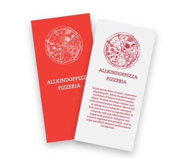 Najlepsza pizza w mieście, Gastronomia, Pizzeria - Ulotki Netprint szablony online