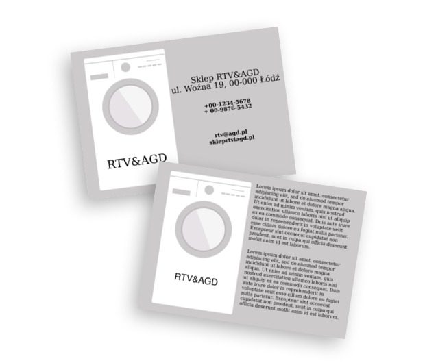 Czyste zasady gry, Sprzedaż, RTV i AGD - Ulotki Netprint szablony online