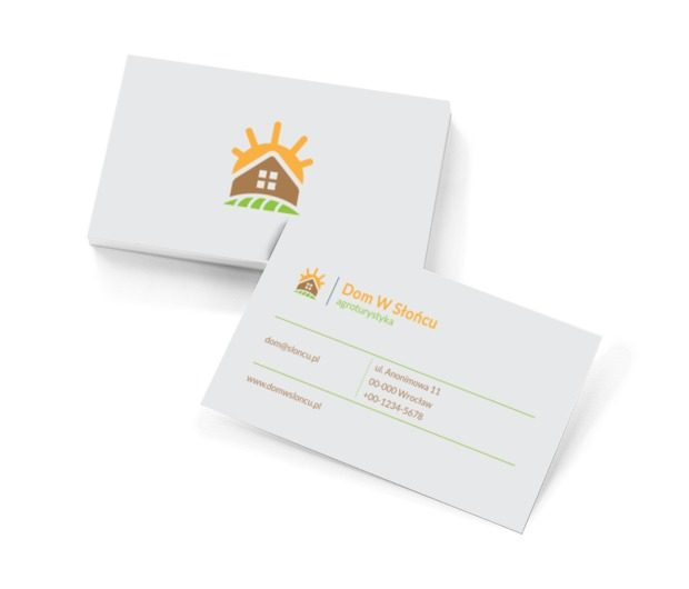 Słoneczna magia wizytówkowej doskonałości, Turystyka, Agroturystyka - Wizytówki Netprint szablony online