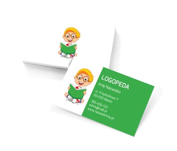 Ty wiesz, jak to napisać poprawnie, Edukacja, Logopeda - Wizytówki Netprint szablony online