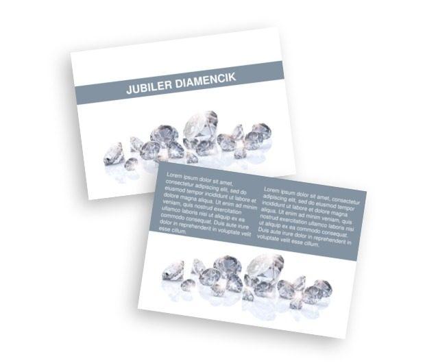 Diamenty w towarzystwie bieli, Sprzedaż, Jubiler - Ulotki Netprint szablony online