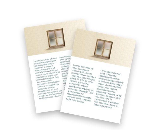 Okiennice na podwórze, Budownictwo, Okna Drzwi - Ulotki Netprint szablony online