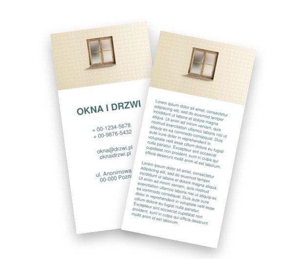Okno z doskonałym motywem, Budownictwo, Okna Drzwi - Ulotki Netprint szablony online