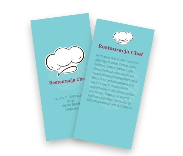 Czapka szefa - Ulotka idealna, Gastronomia, Restauracja - Ulotki Netprint szablony online