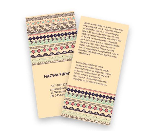 Orientalne marzenia z nutą celtycką, Motywy, Tła i tekstury - Ulotki Netprint szablony online