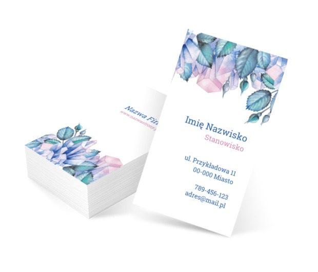 Elegancja w kwiatowym wydaniu, Motywy, Roślinne - Wizytówki Netprint szablony online