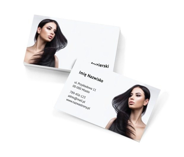 Czysta postać piękna, Zdrowie i uroda, Salon fryzjerski - Wizytówki Netprint szablony online