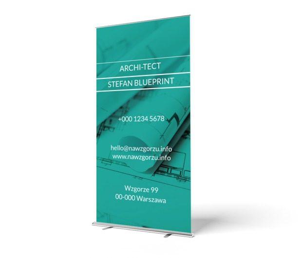 Moc zieleni, Budownictwo, Architekt - Roll-up Netprint szablony online