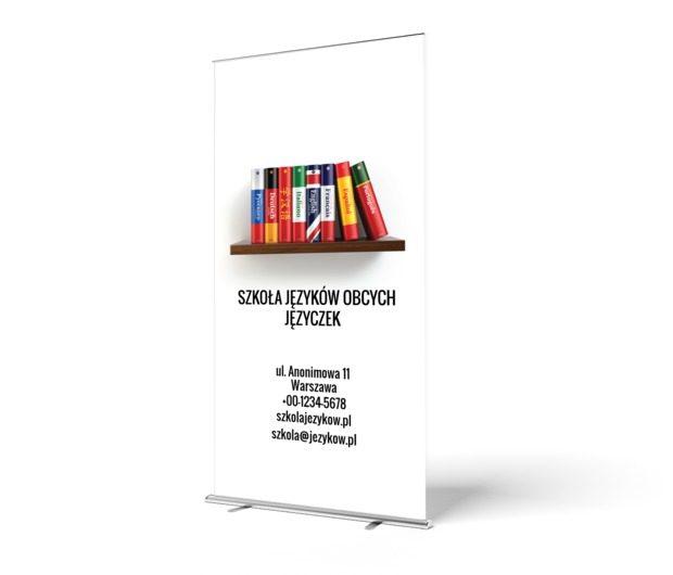 Prostota jest w cenie!, Edukacja, Nauka języków obcych - Roll-up Netprint szablony online