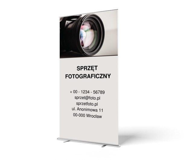 Elegancko i skutecznie, Fotografia, Sprzęt fotograficzny - Roll-up Netprint szablony online