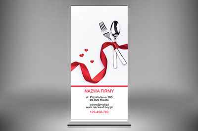 Piękno prostoty, Gastronomia, Catering - Roll-up Netprint