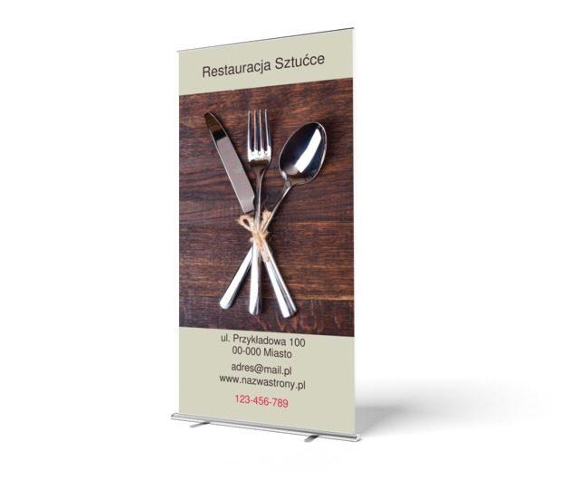 Ideał w stylu vintage, Gastronomia, Restauracja - Roll-up Netprint szablony online