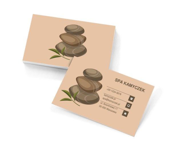 Kamienie relaksacyjne, Zdrowie i uroda, SPA - Wizytówki Netprint szablony online