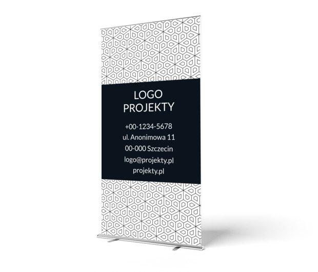Czarno – biała grafika na targi i konferencje, Motywy, Tła i trekstury - Roll-up Netprint szablony online