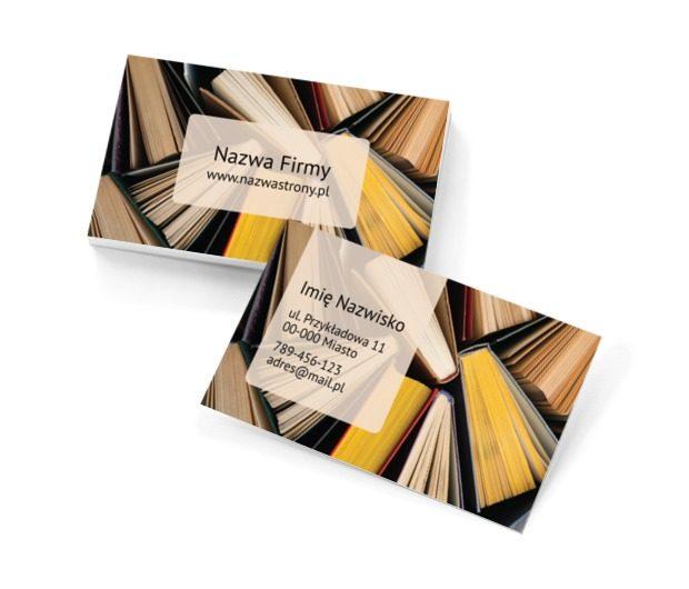 Zaczytani, Edukacja, Księgarnia - Wizytówki Netprint szablony online