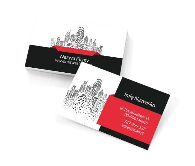 W świecie nieruchomości, Nieruchomość, Biuro nieruchomości - Wizytówki Netprint szablony online